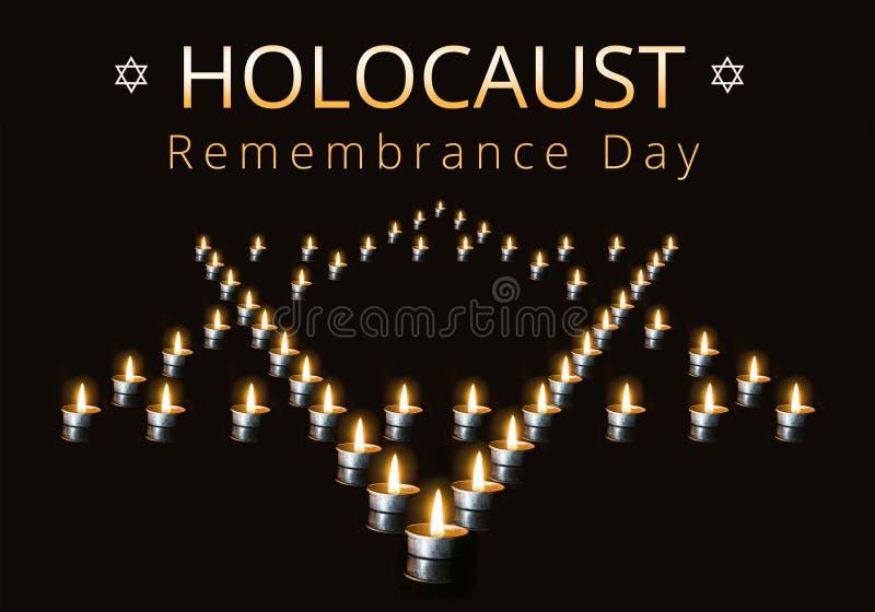 Dia internacional da relembrança do holocausto, o 27 de janeiro foto de stock royalty free