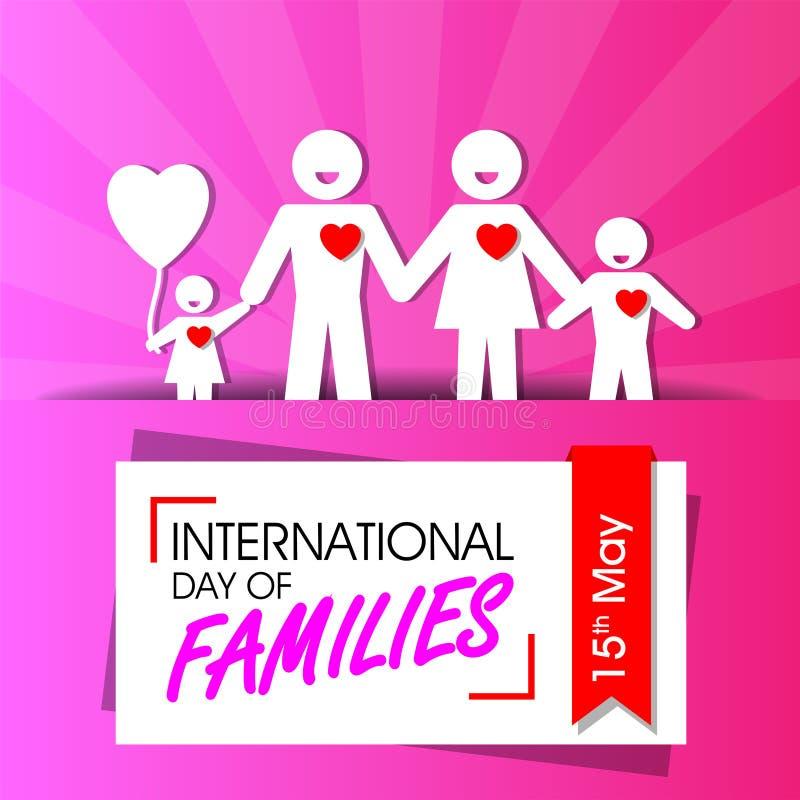 Dia internacional das famílias ilustração stock