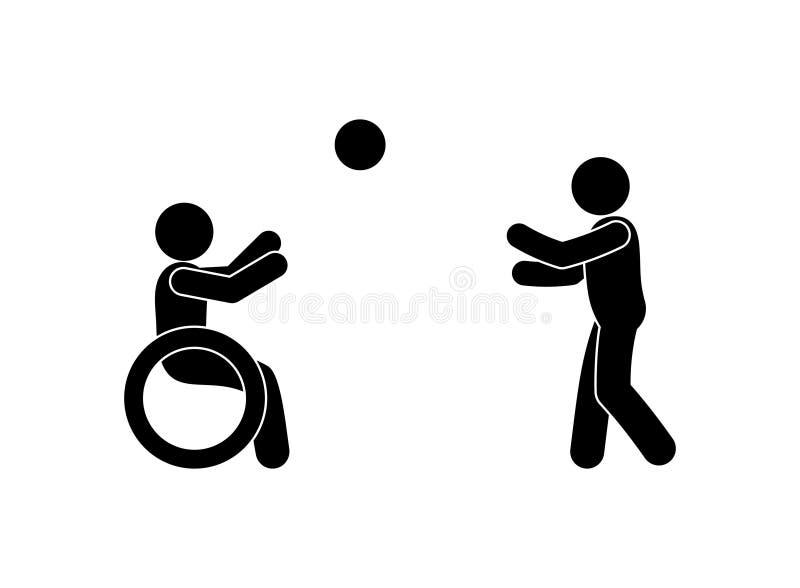 Dia internacional das pessoas com fundo do conceito das inabilidades ilustração do vetor