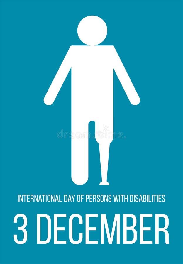 Dia internacional das pessoas com inabilidades ilustração stock