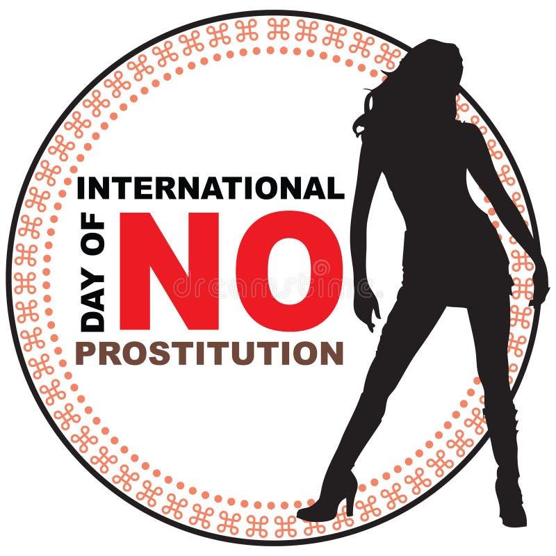 Dia internacional de nenhuma prostituição ilustração stock