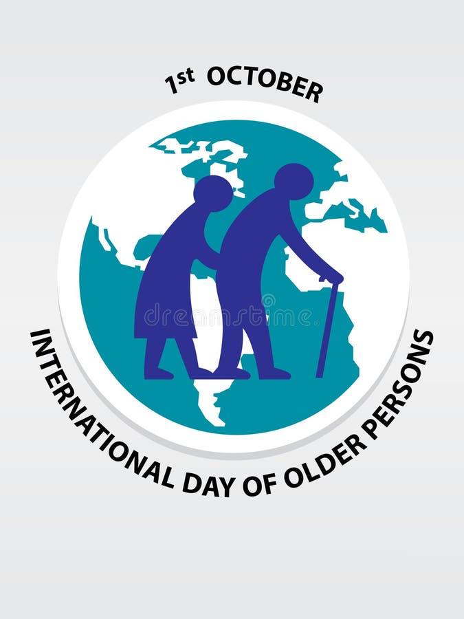 Dia internacional do fundo das pessoas mais idosas ilustração do vetor