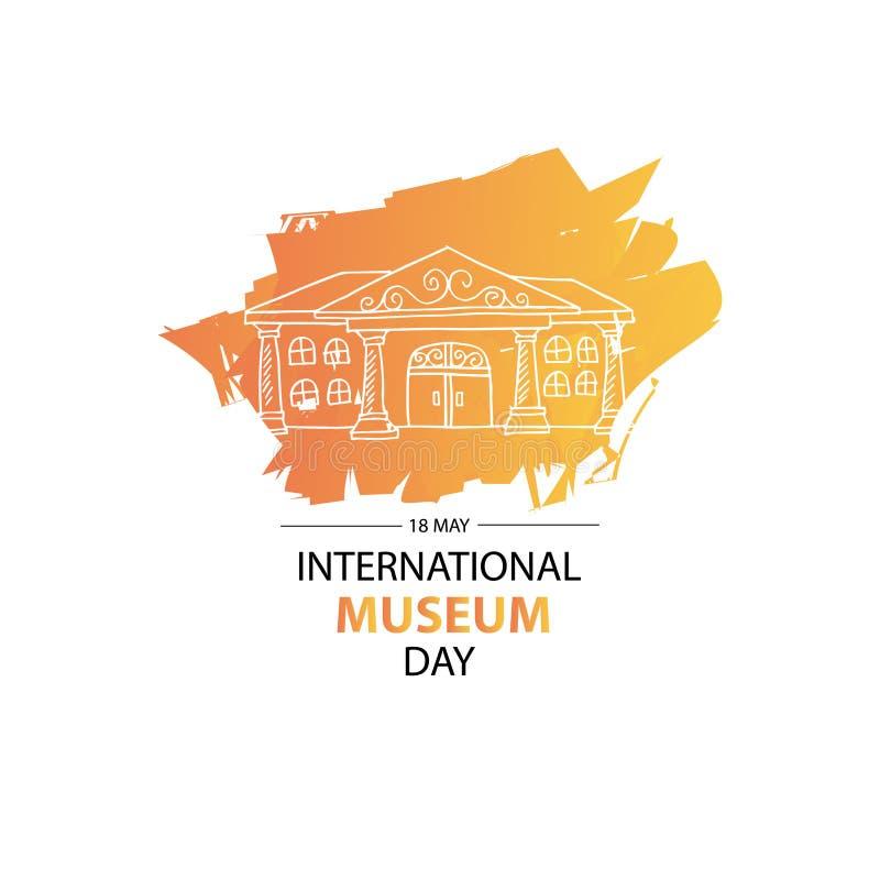 Dia internacional do museu ilustração stock