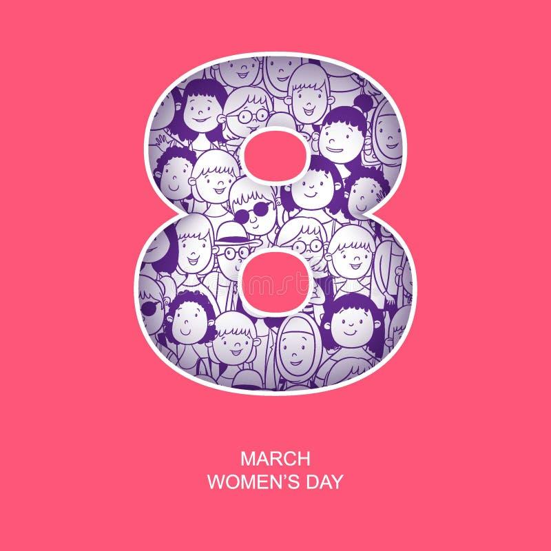 Dia internacional do ` s da mulher ilustração stock