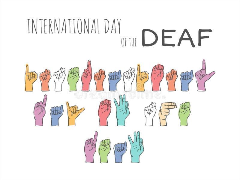 Dia internacional do surdo ilustração royalty free