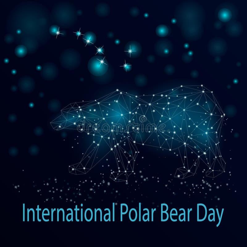 Dia internacional do urso polar ilustração royalty free