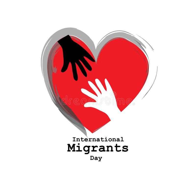 Dia internacional dos emigrantes ilustração royalty free