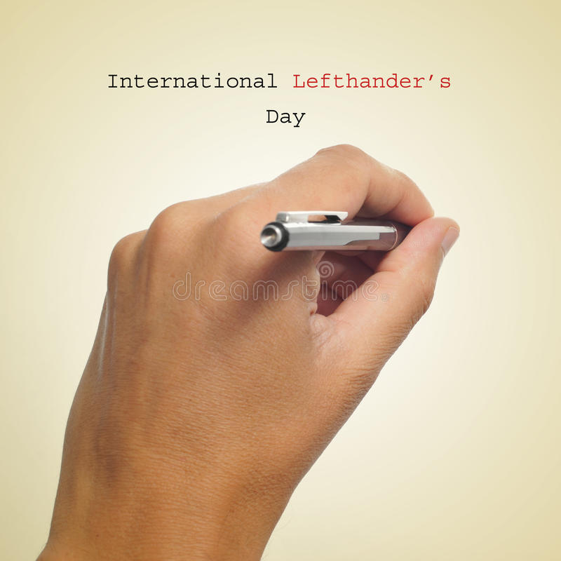 Dia internacional dos Lefthanders imagens de stock