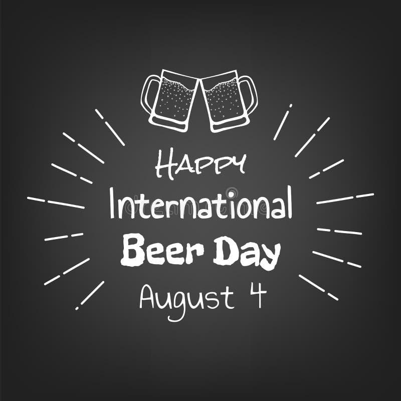 Dia internacional feliz da cerveja ilustração royalty free
