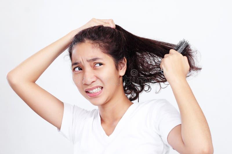 Dia mau do cabelo fotografia de stock