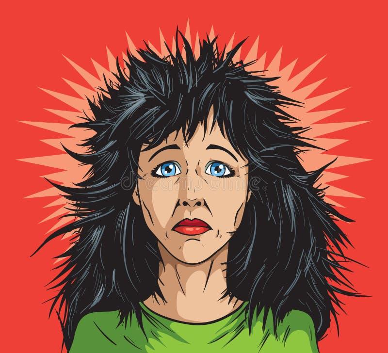 Dia mau do cabelo ilustração royalty free