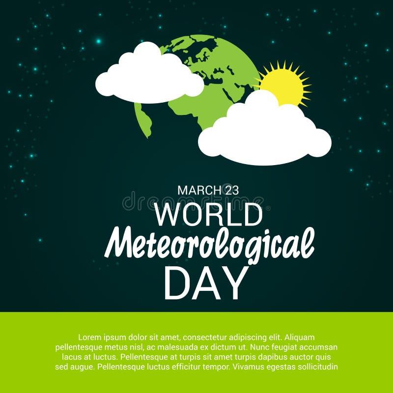 Dia meteorológico do mundo ilustração stock