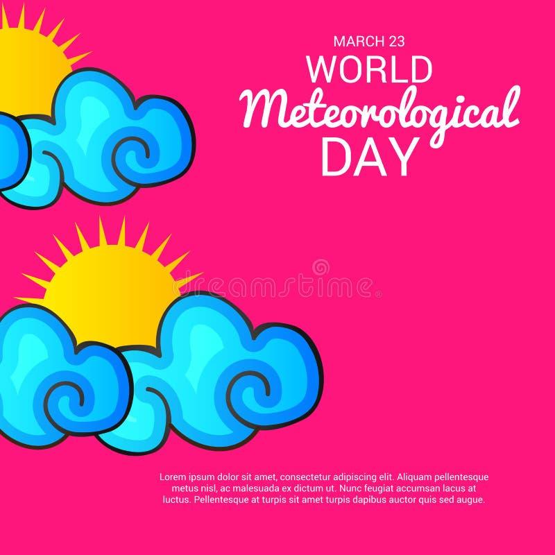 Dia meteorológico do mundo ilustração do vetor