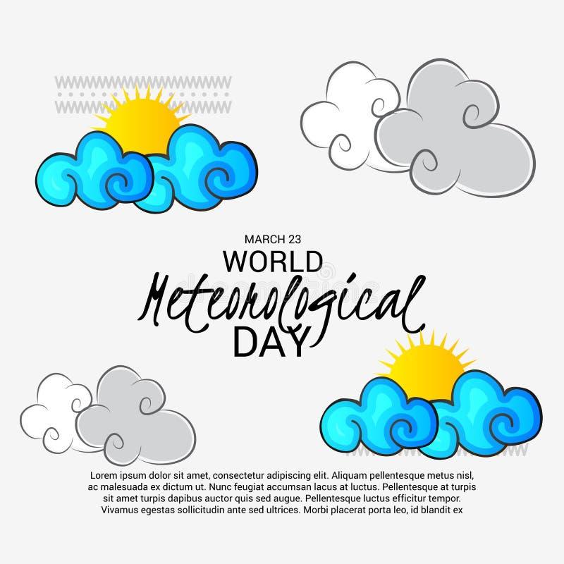 Dia meteorológico do mundo ilustração royalty free