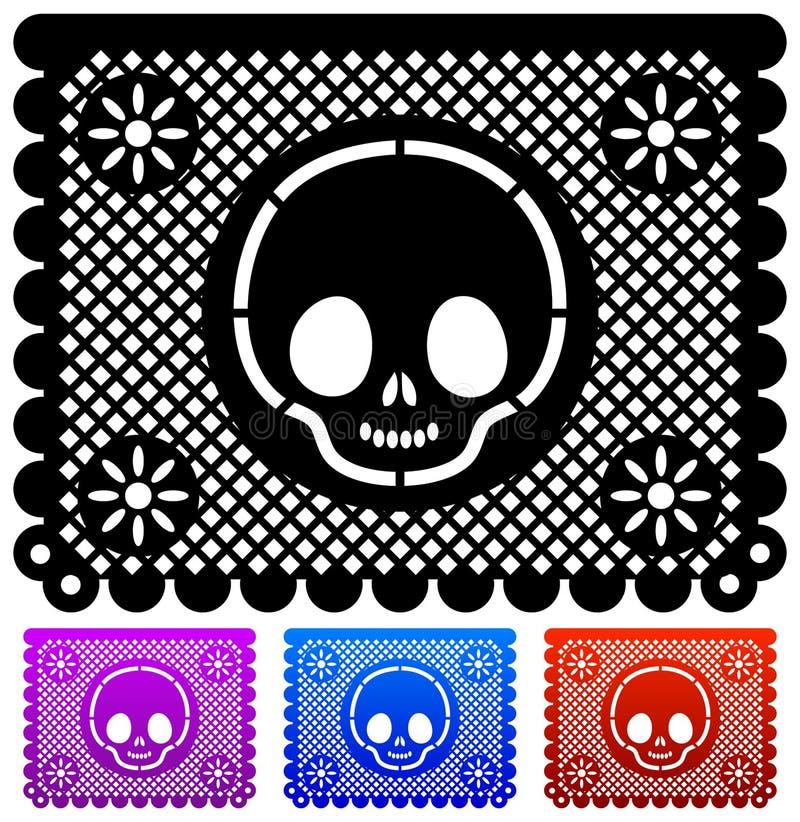 Dia mexicano da decoração da morte ilustração stock