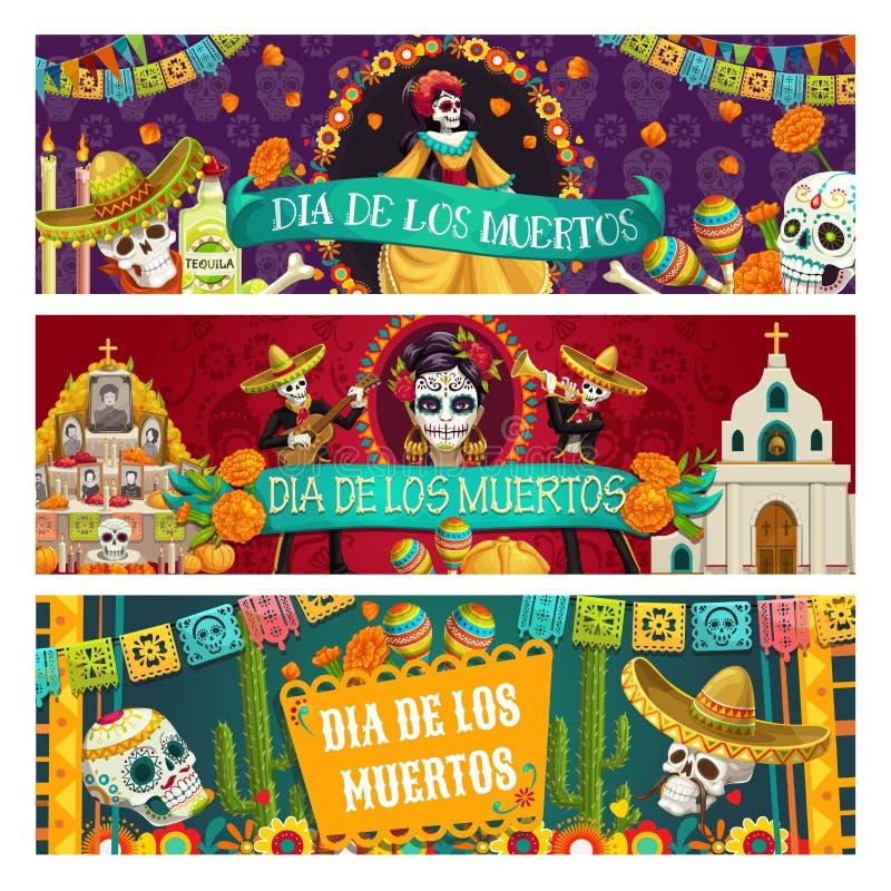 Dia mexicano do feriado inoperante, Di?metro de los Muertos ilustração do vetor