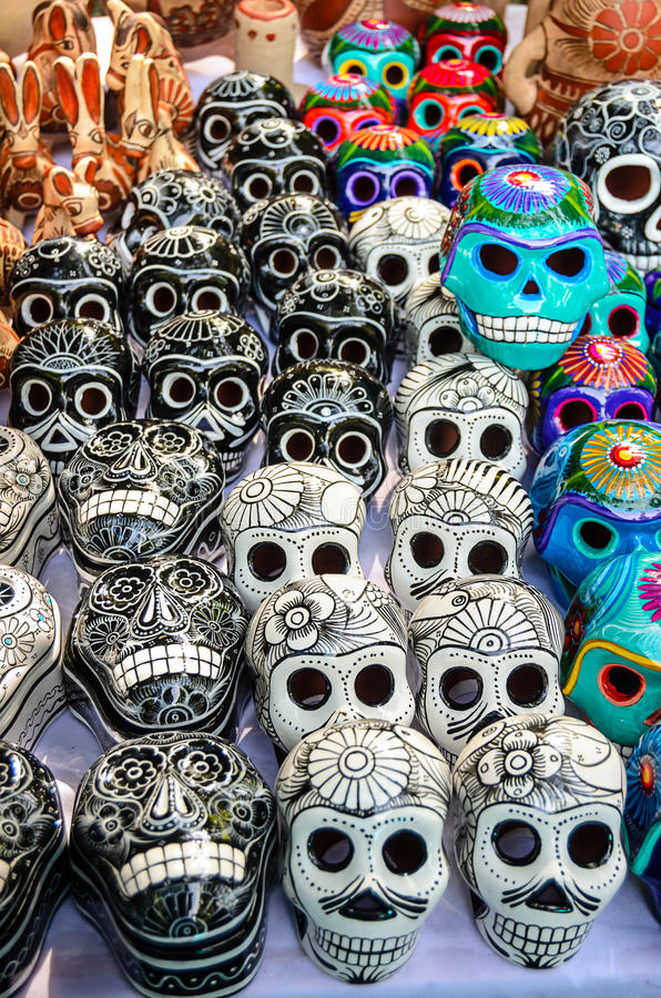 Dia mexicano dos crânios inoperantes da lembrança fotografia de stock royalty free
