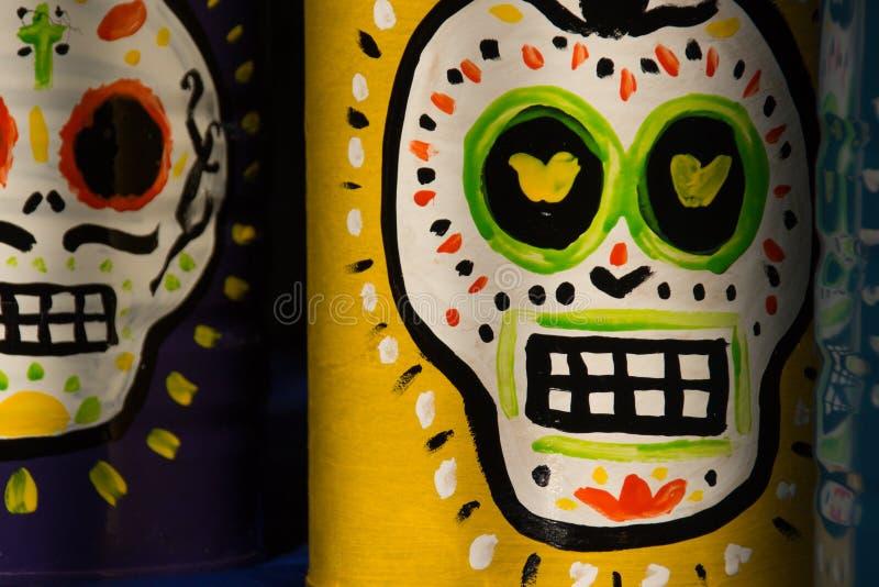 Dia mexicano tradicional dos símbolos inoperantes imagem de stock