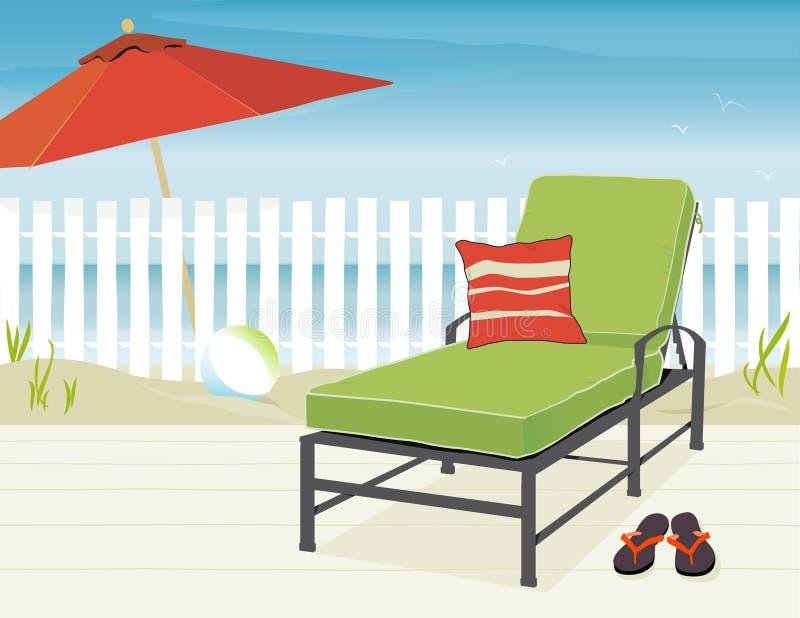 Dia na praia ilustração royalty free
