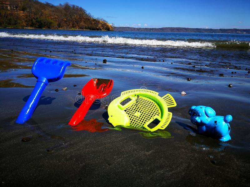 Dia na praia em Costa Rica foto de stock royalty free