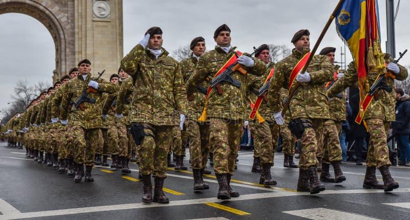 Dia nacional de Romênia, exército romeno fotos de stock