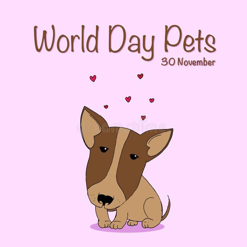 Dia nacional do animal de estimação ilustração do vetor