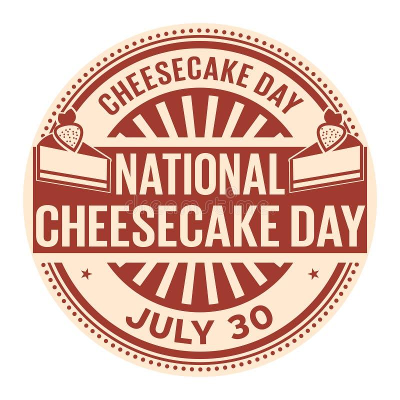 Dia nacional do bolo de queijo ilustração stock