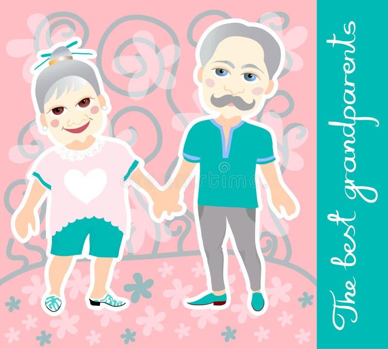 Dia nacional dos Grandparents ano novo feliz 2007 ilustração stock