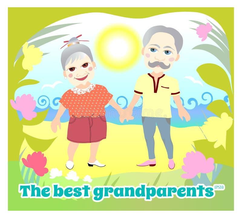 Dia nacional dos Grandparents ano novo feliz 2007 ilustração royalty free