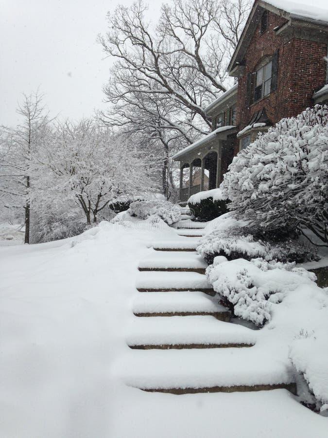 dia nevado fotografia de stock