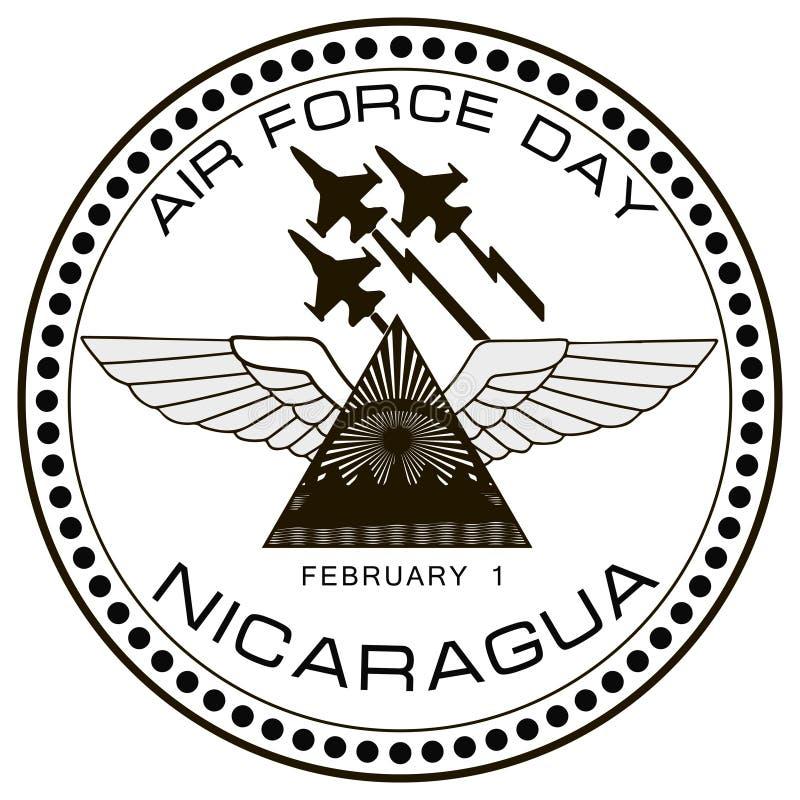 Dia Nicarágua da força aérea ilustração do vetor