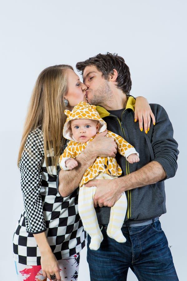 Dia a papà un bacio immagini stock