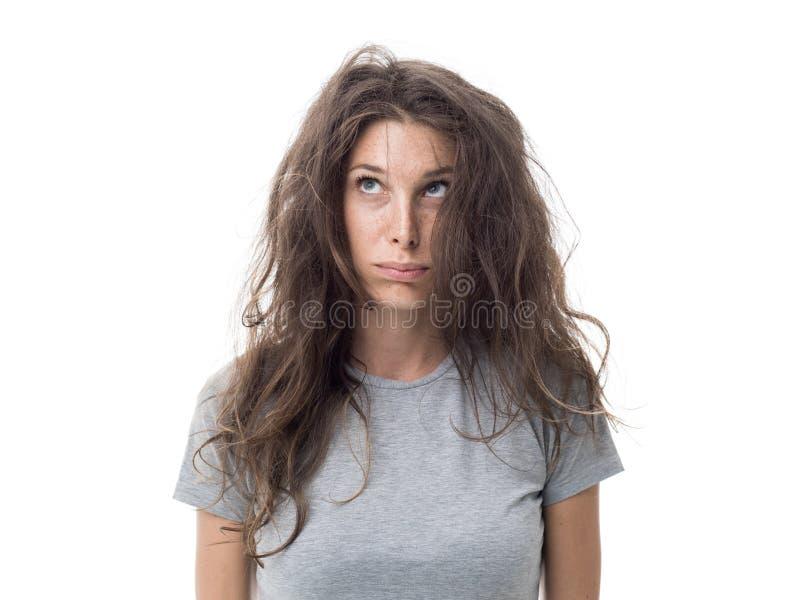 Dia ruim do cabelo imagem de stock