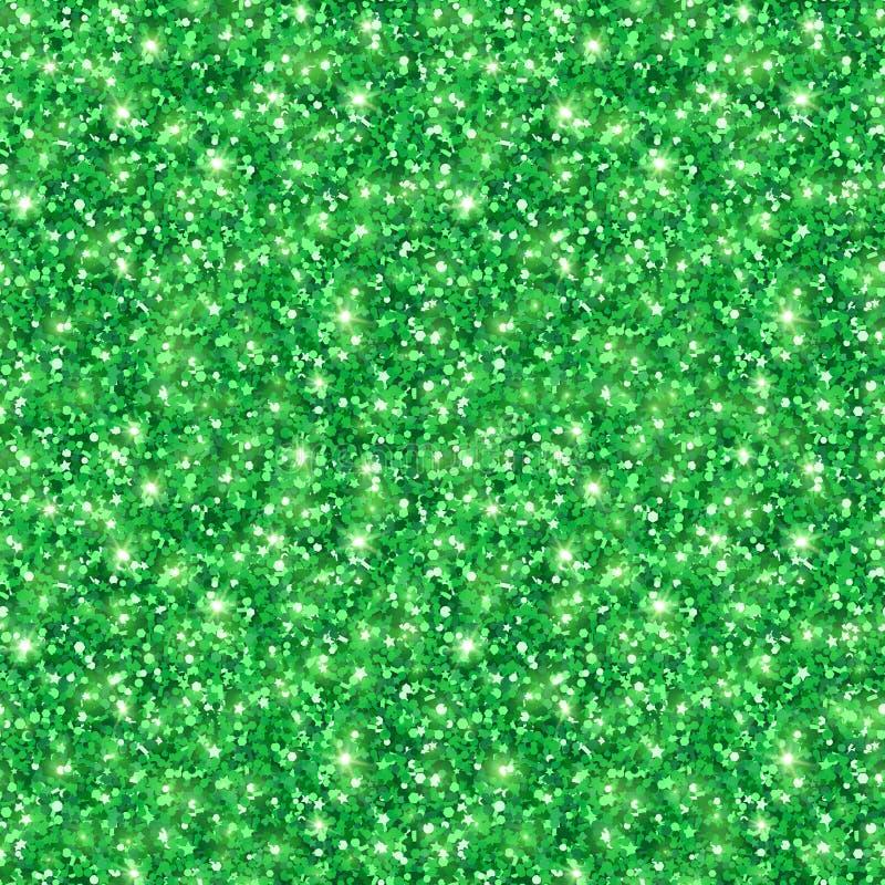 Dia sem emenda de brilho verde de Patricks do teste padrão ilustração royalty free