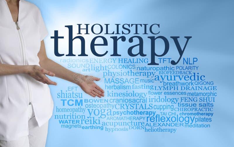 Dia un'occhiata a tutte le terapie olistiche differenti immagine stock