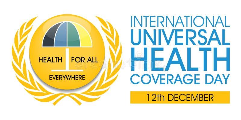 Dia universal internacional da cobertura de saúde ilustração do vetor