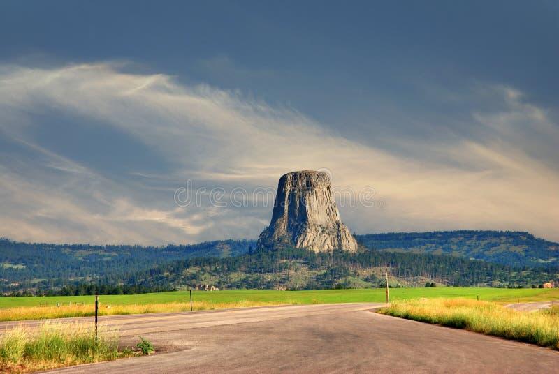 Diabłów wierza w Wyoming, usa zdjęcia stock