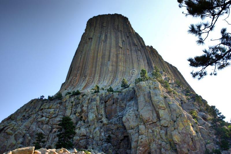 Diabłów wierza w Wyoming, usa fotografia royalty free