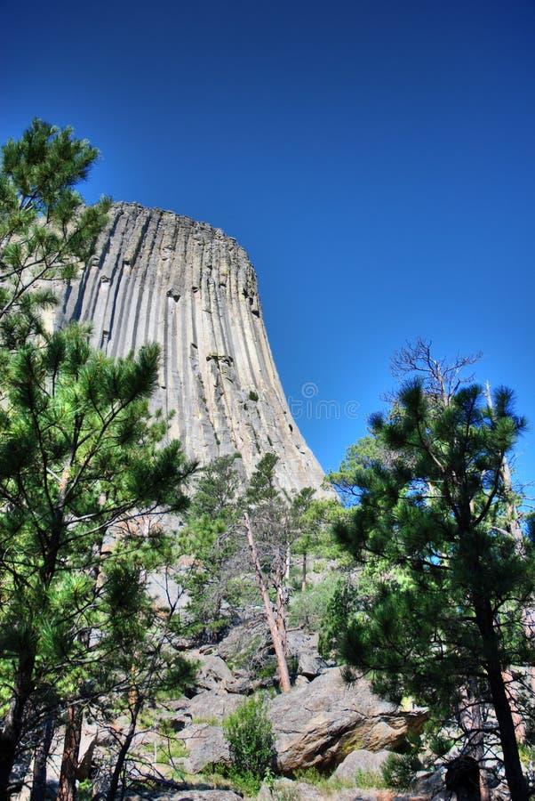 Diabłów wierza w Wyoming, usa obrazy royalty free