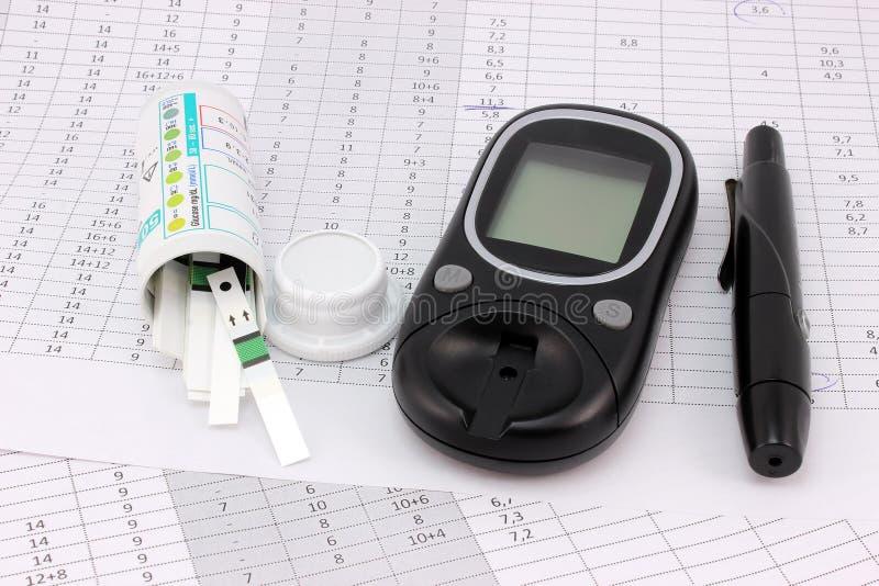Diabético da tabela fotos de stock