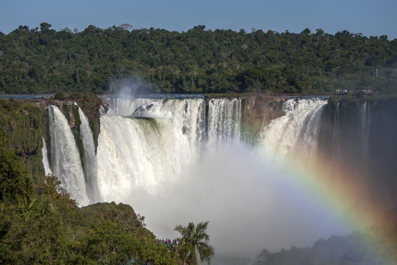 Diabła gardło przy Iguazu spadkami zdjęcie royalty free