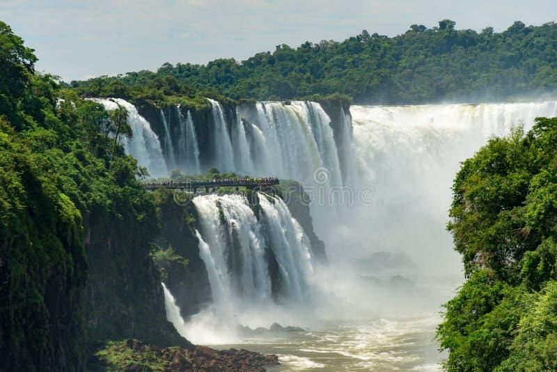 Diabła gardło przy Iguazu spadkami obrazy royalty free
