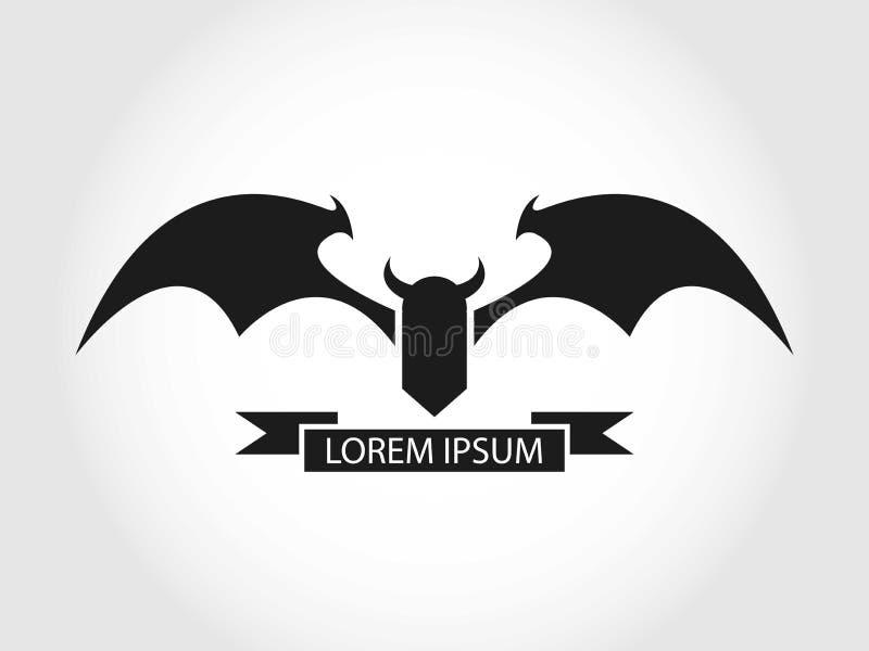 Diabła lub nietoperza logo royalty ilustracja