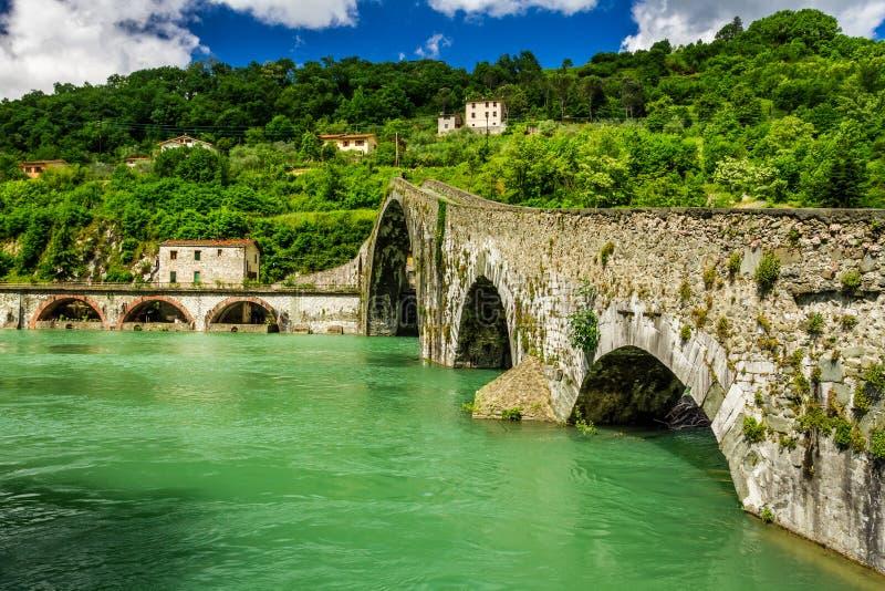 Diabły Przerzucają most Lucca fotografia royalty free