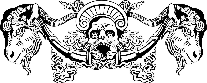 diabeł royalty ilustracja