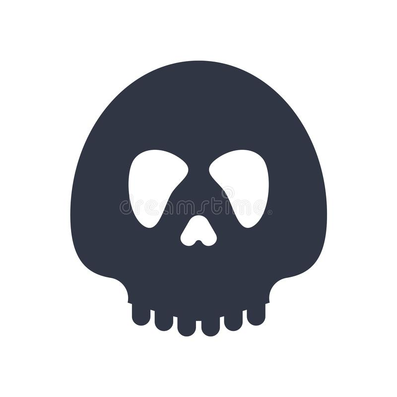 Diabeł głowa z róg ikony wektoru znakiem i symbol odizolowywający na białym tle, diabeł głowa z rogu logo pojęciem ilustracji