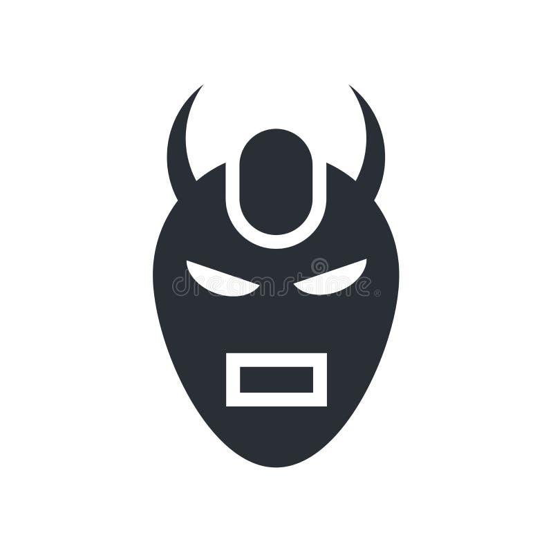 Diabeł ikony wektoru maskowy znak i symbol odizolowywający na białym backgro ilustracja wektor