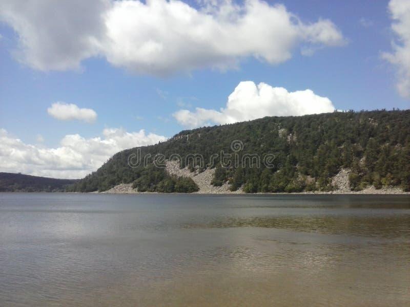 Diabeł jezioro Wisconsin obrazy stock