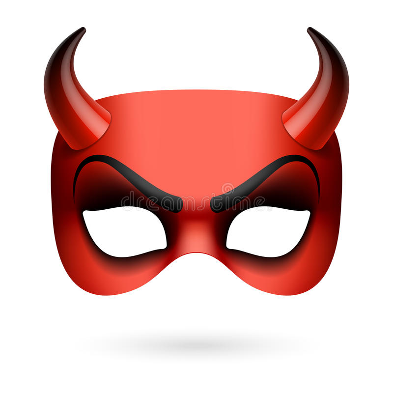Diabeł maska royalty ilustracja