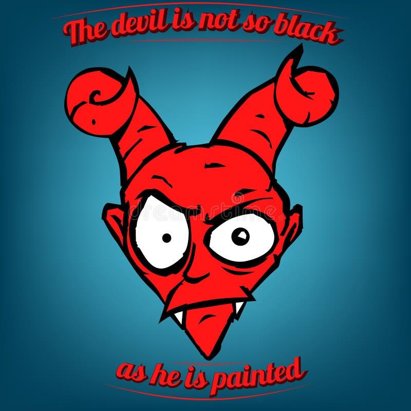Diabeł no jest w ten sposób czarny gdy maluje ilustracji